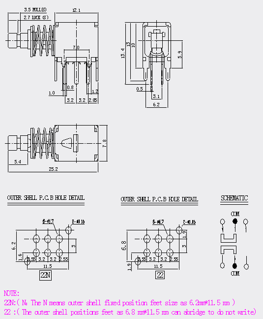 PS908 Series Switch Push Switches Fitre microinterruttori